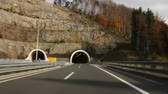 asphalt : Car driving highway and through tunnel