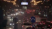 downtown : City traffic of Novosibirsk