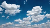 Bright beautiful blue sky with clouds for background or texture 動画素材