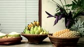 bereket : Tasty and healthy fruits on table, Backgrounds Stok Video