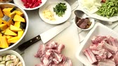soup ingredients : Curry, Pork Ribs and Vegetable, Ingredients for Pork rib curry