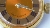 numerais : Old wrist watches made in Russia. Time lapse. Macro shot in 5K resolution.