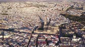 tourada : Aerial view of the historic city and cathedral of Seville, Spain
