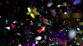 confete : Confetti flying in the air shooting with high speed camera.