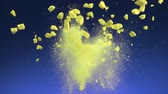 esmagado : Crushed yellow tablet explosion shooting with high speed camera. Vídeos