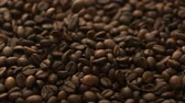 impacto : Full of coffee beans shooting with high speed camera.