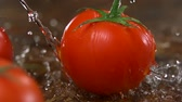 tazelik : Tomato with water splash shooting with high speed camera.