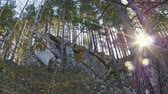 sella : mountans and rocks in siberian forest, Ural