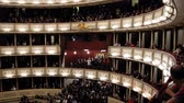 condutor : Vienna, AUSTRIA - 13 oct 2016: Opera - Giacomo Puccinis Tosca. Spectators going on the performance Vídeos