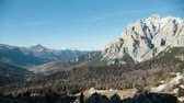 dolomiti : Dolomites. Beautiful overview of mountains and a forest