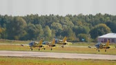 combattente : 30 AUGUST 2019 MOSCOW, RUSSIA: reactive planes are taking off the runway