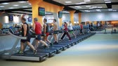 cardiologia : People on treadmills in the gym