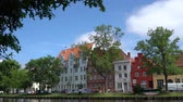 çatılar : Luebeck, View of the city from river.