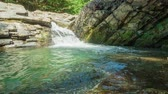 zen like : Waterfall with clear water in rocks