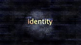 thumbprint : The word Identity in front of a digital background representing executable code.