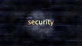 antivirus app : The word Security in front of a digital background representing executable code.