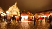 weihnachten : December 20, 2015, Nuremberg, Germany: Time-lapse view of the traditional christmas fair as tourists and citizens choose presents on December 20, 2015 in Nuremberg, Germany. Stock Footage