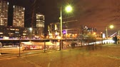 upscale : April 7, 2015, Buenos Aires, Argentina: Time-lapse view of the Puerto Madero district at night on April 7, 2015 in Buenos Aires, Argentina. Stock Footage