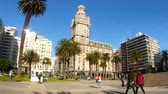salvo : MONTEVIDEO, URUGUAY - SEPTEMBER 3: View of the Plaza Independencia on September 3, 2016 in Montevideo, Uruguay.