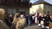 sheepskin : MOHACS, HUNGARY - FEBRUARY 26: People celebrate the traditional Buso Carnival Parade which is listed amongst the UNESCO cultural heritages since 2009 on February 26, 2017 in Mohacs, Hungary.