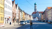 баварский : AUGSBURG, GERMANY - JUNE 3: View of a street on June 3, 2016 in Augsburg, Germany.