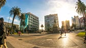 independencia : MONTEVIDEO, URUGUAY- SEPTEMBER 3: View of the Plaza Independencia on September 3, 2016 in Montevideo, Uruguay. Stock Footage