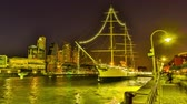 rio de la plata : BUENOS AIRES, ARGENTINA – SEPTEMBER 7: HDR Time-lapse view of the famous neighbourhood of Puerto Madero at night on September 7, 2016 in Buenos Aires, Argentina.