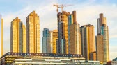 rio de la plata : BUENOS AIRES, ARGENTINA – SEPTEMBER 7: Time-lapse view of modern architeture in the sunset in Puerto Madero on September 7, 2016 in Buenos Aires, Argentina.