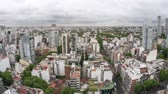 arjantin : BUENOS AIRES, ARGENTINA – SEPTEMBER 7: Time-lapse view over the city on a cloudy day on September 7, 2016 in Buenos Aires, Argentina. Stok Video