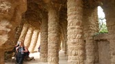 modernism : BARCELONA, SPAIN – JULY 11: View on Architecture in the Park Guell on July 11, 2016 in Barcelona, Spain.