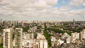 cabaça : Time-lapse view of the skyline of the city on September 7, 2016 in Buenos Aires, Argentina. Stock Footage