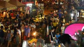 khaosan : BANGKOK - FEBRUARY 19: View on the busy nightlife in the famous Khao San Road on February 19, 2018 in Bangkok, Thailand.