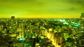 cabaça : Time-lapse view of the skyline of the city at night on September 7, 2016 in Buenos Aires, Argentina. Stock Footage