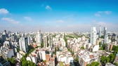 high rise buildings : BUENOS AIRES, ARGENTINA – SEPTEMBER 7: Time-lapse view over the city on September 7, 2016 in Buenos Aires, Argentina. Stock Footage