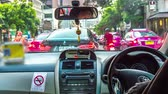 metr : BANGKOK,THAILAND - MARCH 03: Time-lapse view of a journey with a taxi through Bangkok on March 03, 2018 in Bangkok,Thailand.