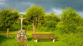 prado : A christian cross in rural Bavaria. Stock Footage