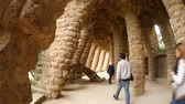 каталонский : BARCELONA, SPAIN – JULY 11: View on Architecture in the Park Guell on July 11, 2016 in Barcelona, Spain.