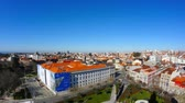 touristic place : PORTO, PORTUGAL - CIRCA JANUARY 2018: Panoramic view on historic architecture in the old town circa January 2018 in Porto, Portugal. Stock Footage