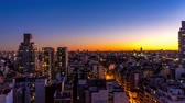 cabaça : Dusk time-lapse view on the skyline of the city in Buenos Aires, Argentina.