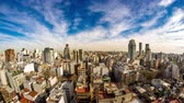 américa do sul : Time-lapse view on the skyline of the city on a cloudy day in Buenos Aires, Argentina.