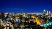 cabaça : Night time-lapse view on the illuminated skyline of the city in Buenos Aires, Argentina.