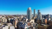 cabaça : Time-lapse view on the skyline of the city on a sunny day in Buenos Aires, Argentina.