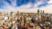 cabaça : Time-lapse view on the skyline of the city on a cloudy day in Buenos Aires, Argentina.