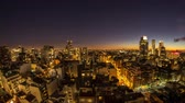 федеральный : Night time-lapse view on the skyline of the city from a balcony of a high rise apartment in Buenos Aires, Argentina. Стоковые видеозаписи
