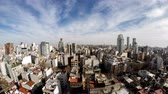 propriedade : Time-lapse view on the skyline of the city on a cloudy day in Buenos Aires, Argentina.