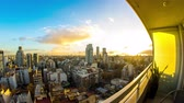 cabaça : Dusk time-lapse view on the skyline of the city from a balcony of a high rise apartment in Buenos Aires, Argentina. Stock Footage