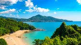 Time-lapse view on an idyllic tropical coast on a sunny day in Thailand.
