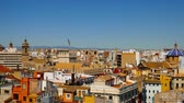 Panoramic view on the historic buildings in the Old town of Valencia, Spain Dostupné videozáznamy