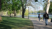 wegry : BUDAPEST, HUNGARY - CIRCA APRIL 2019: View on the famous Varosliget Park circa April 2019 in Budapest, Hungary. Wideo