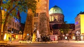 bayrisch : NUREMBERG, GERMANY - CIRCA MAY 2019: Time-lapse view on the famous historic Architecture in the centre of the city during sundown circa May 2019 in Nuremberg, Germany.
